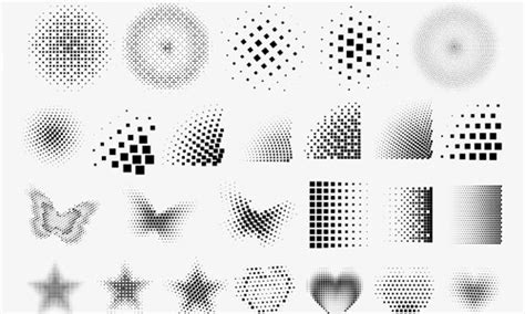 square pattern brush photoshop 30 awesome sets of halftone brushes naldz graphics