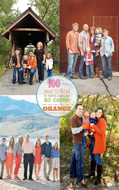 family picture clothes  color series orange capturing