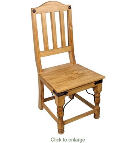 Rustic Pine Dining Chairs Indian Mexican Dining Chair Rustic Pine