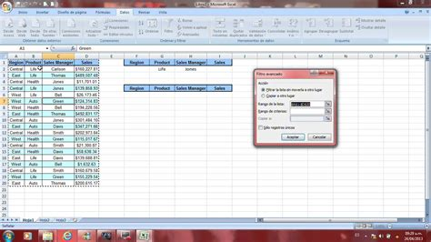 tutorial en excel 2007 tutorial excel filtro avanzado youtube