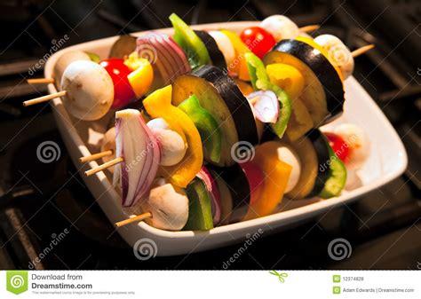 m s prepared vegetables prepared and uncooked vegetable kebabs stock photo image