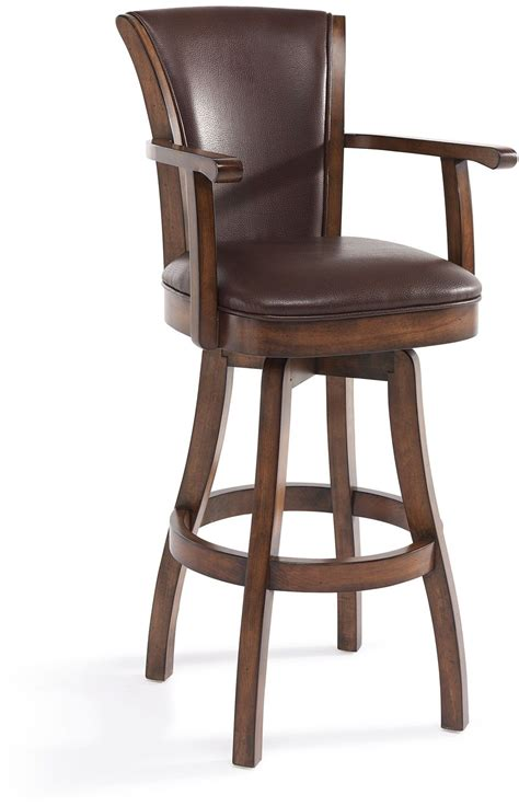 bar stools raleigh raleigh arm chestnut 30 quot bar height swivel wood barstool