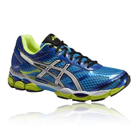 cushioned athletic shoes asics gel cumulus 16 mens blue green cushioned running