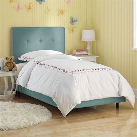 upholstered toddler bed button upholstered bed modern kids beds by