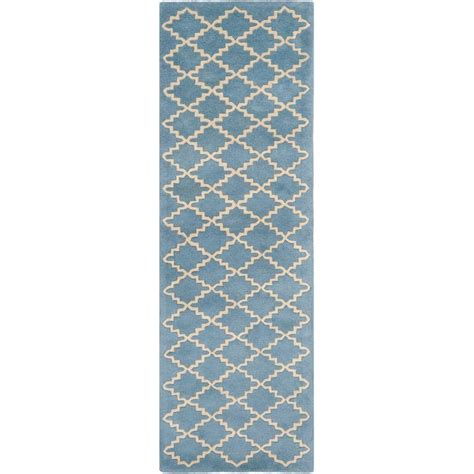 safavieh chatham blue grey 2 ft 3 in x 11 ft rug runner
