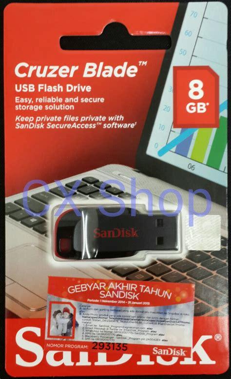 Jual Sandisk Cruzer Blade 8gb jual sandisk cruzer blade 8gb cz50 flashdisk garansi