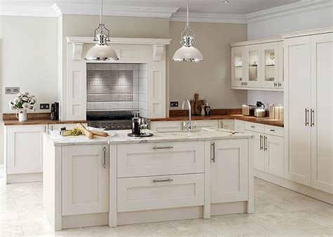 Rivington Solid Ash Painted Shaker Style Kitchen In Cream Painted Shaker Style Kitchen Cabinets
