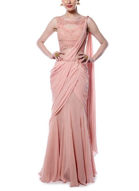 drape saree mandira wirk light pink drape saree shop sarees at
