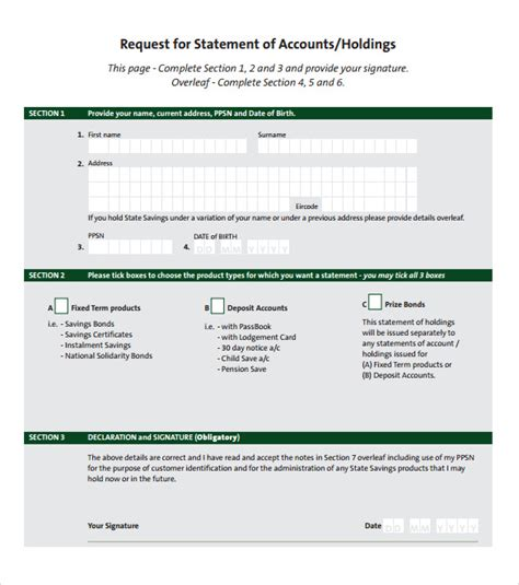 statement account template sle statement of account 10 documents in pdf