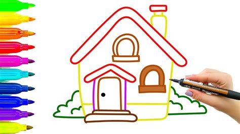 drawing house house drawing for kids www pixshark com images