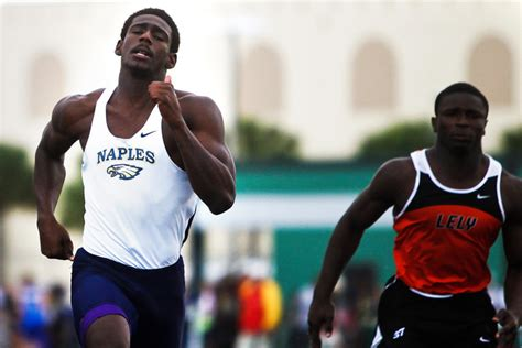 naples track results prep track and field naples bazile wins three events at
