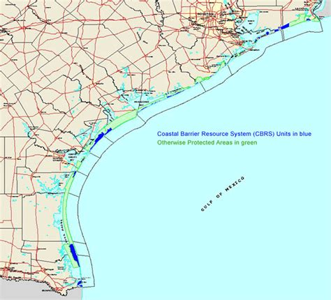 gulf of texas map map of texas coast my
