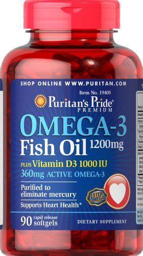 Sale Puritan Pride Fish Omega 3 1200mg 200 Caps top best 5 fish d3 for sale 2016 product boomsbeat