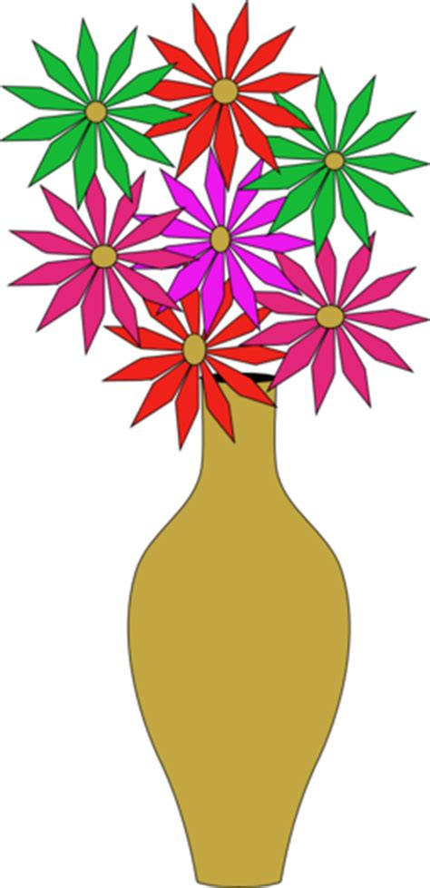 vase  flowers clipart iclipart royalty  public