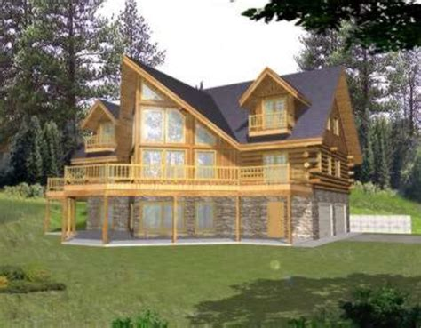 log cabin floor plans with garage log style house plan 3 beds 3 baths 3219 sq ft plan 117 411
