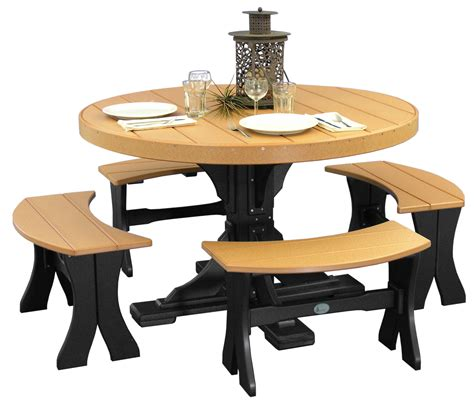 round dining table bench seating tables chairs amish merchant