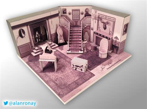 Papercraft Sets - papercraft model of the interior of the family