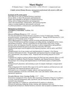 Best Resume Resources by Sample Human Resources Resume The Best Job Hunting Site