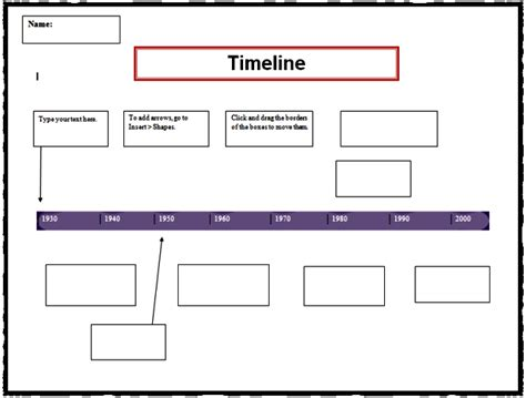 autobiography timeline template timeline template word template business