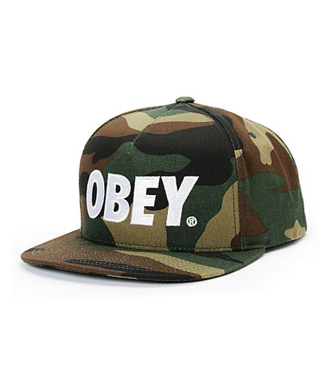 Obey Camo obey the city camo white snapback hat at zumiez pdp