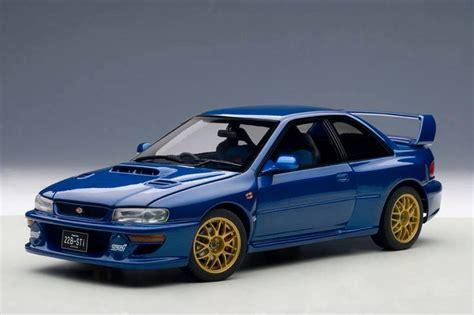 1998 subaru impreza autoart 1998 subaru impreza 22b upgraded version blue