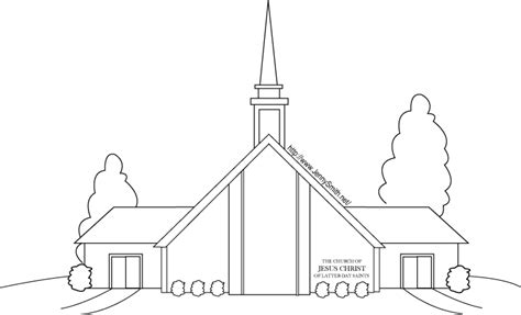 coloring pages lds org mormon share lds meeting house lds clipart craft
