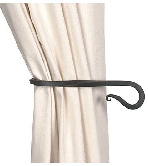 iron curtain tie backs tie backs black wrought iron curtain tie back 9 quot long
