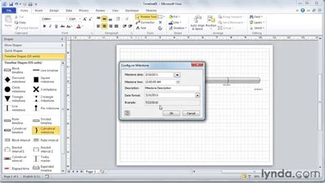 visio timeline tutorial adding milestones to the timeline