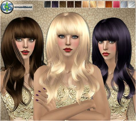 the sims 2 downloads fringe hairstyles spring4sims natural wavy hair with fringe by cool sims