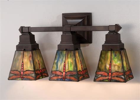 Arts And Crafts Bathroom Lighting Meyda 48036 Glass Stained Glass 3 Light 20 Quot Wide Bathroom Fixture From