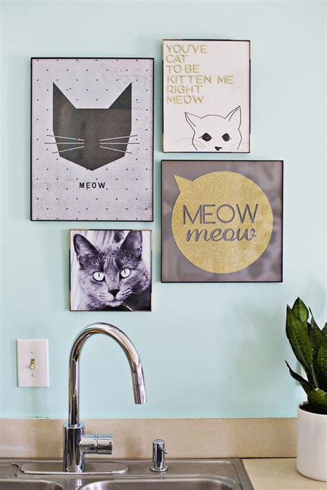 diy cat painting cat furniture and decor ideas that you will immediately