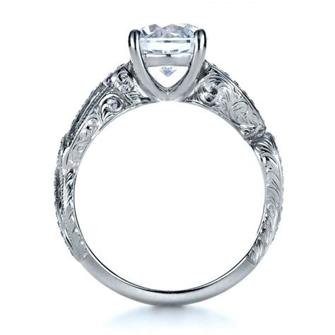 Engraved Engagement Rings by Engraved Engagement Ring 1261