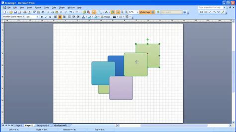 visio display visio object display order