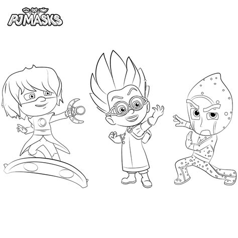 pj masks characters coloring pages top 10 pj masks coloring pages of 2017