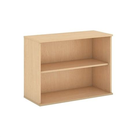 Maple Bookcase by Bush Business 30h 2 Shelf Bookcase In Maple Bk3036ac