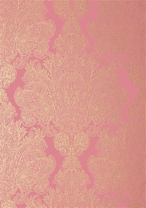 wallpaper pink and gold anna french auburn wallpaper in metallic gold on pink