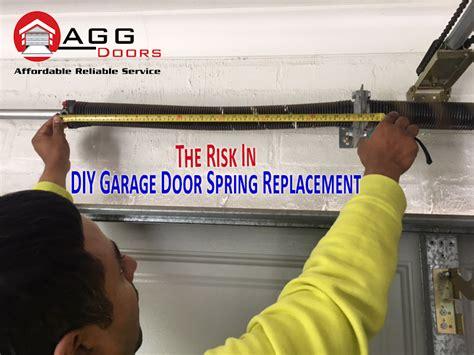 diy garage door springs the risk in diy garage door replacement agg doors