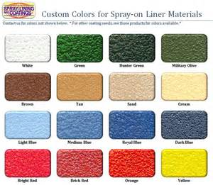 raptor liner colors raptor spray in bedliner autos post