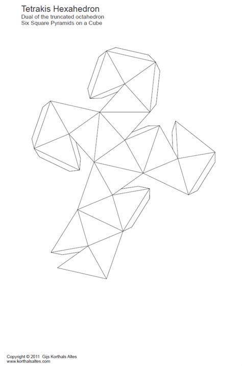hexahedron template paper tetrakis hexahedron disdyakis hexahedron