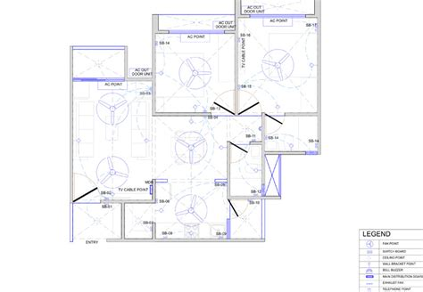 house electrical layout sle plans