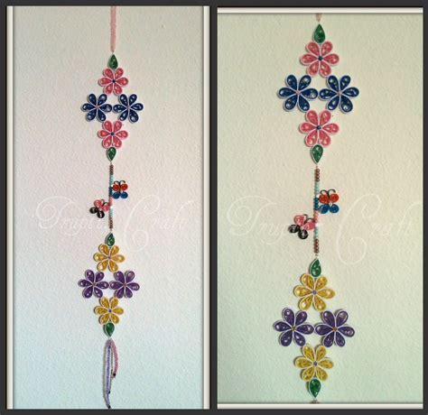 Wall Hanging Paper Craft - trupti s craft paper flower wall hanging
