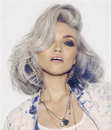 glamorous styles for medium grey hair a medium grey hairstyle from the rebel elite collection by