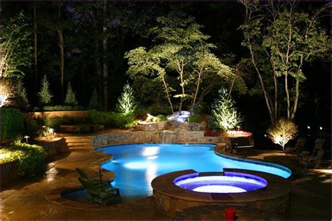 outdoor pool lighting landscape lighting ideas for your pool bee home plan