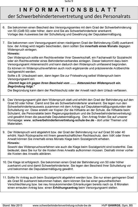 Vorlage Antrag Gdb Betriebliches Eingliederungsmanagement F 252 R Langfristig Erkrankte Lehrkr 228 Fte Gesetzlich