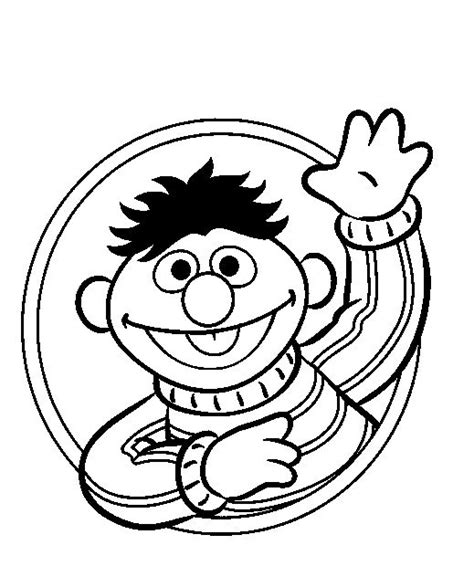 sesame street ernie sesame street coloring pages