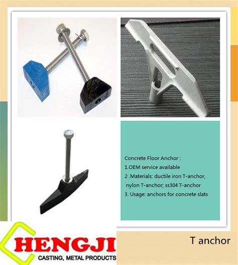 hardware fastener t shaped anchors concrete floor anchor