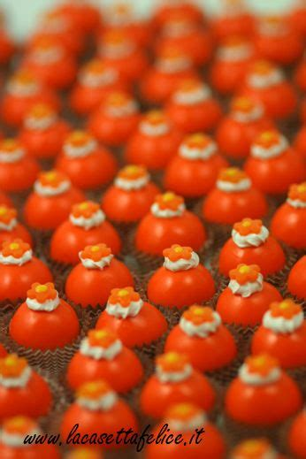 segnaposto mini bon bon arancioni