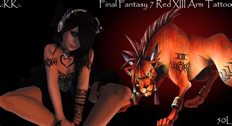 red xiii tattoo kittykatnip 7 xiii arm