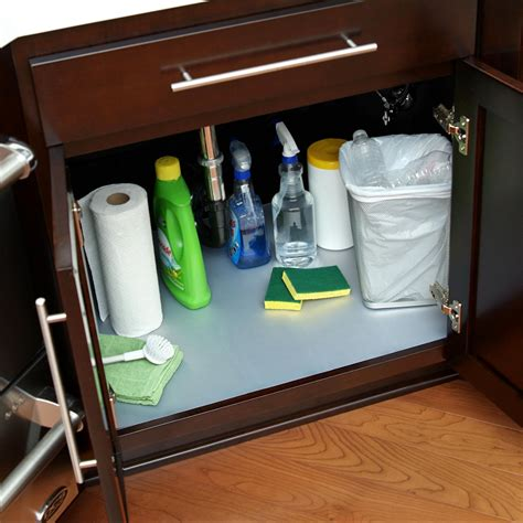 under kitchen sink cabinet liner under kitchen sink cabinet liner with before how to make a