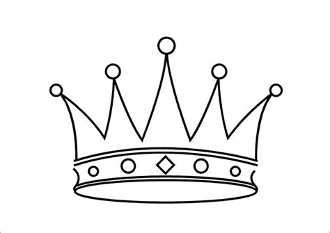 template of a crown crown template free templates free premium templates